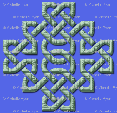 Celtic Knots in Knots - blue