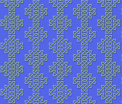 Celtic Knots in Knots - blue fabric by nezumiworld on Spoonflower - custom fabric