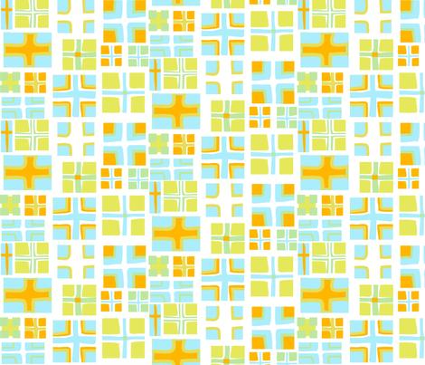 "CROSS in ""OCEAN & CITRUS""  fabric by trcreative on Spoonflower - custom fabric"