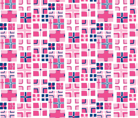 CROSS in PINK & NAVY fabric by trcreative on Spoonflower - custom fabric