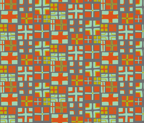 CROSS in  PAPRIKA & STEEL fabric by trcreative on Spoonflower - custom fabric