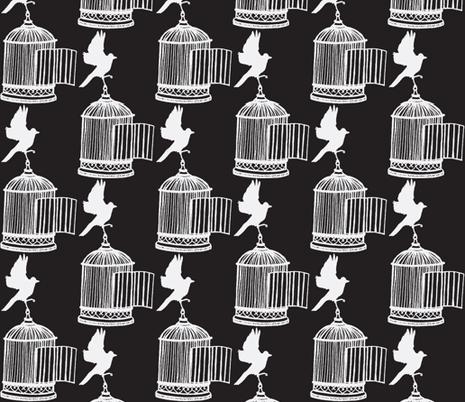 Birdcage fabric by littlebeardog on Spoonflower - custom fabric