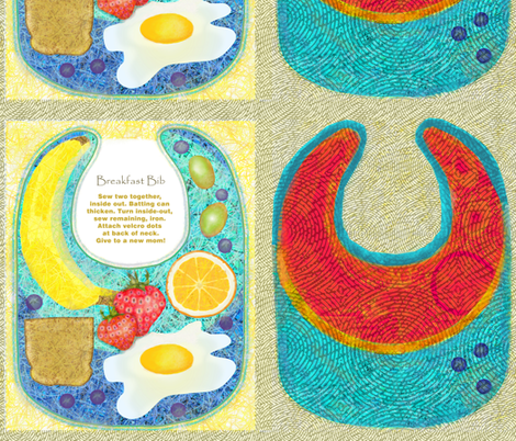 Breakfast Bibs fabric by wren_leyland on Spoonflower - custom fabric