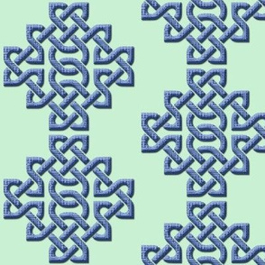 Celtic Knots in Knots - Pale Cyan