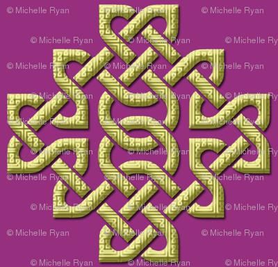 Celtic Knots in Knots - purple