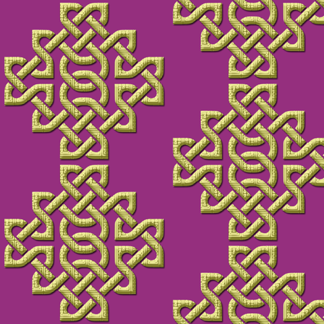 Celtic Knots in Knots - purple fabric by nezumiworld on Spoonflower - custom fabric