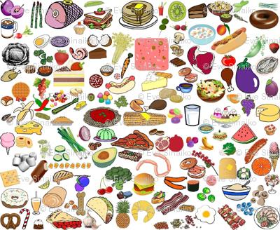 Scattered food clip art