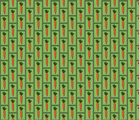3D Carrot boxes fabric by nezumiworld on Spoonflower - custom fabric