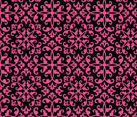 Contessa Damask - Magenta Cherry fabric by pixeldust on Spoonflower - custom fabric
