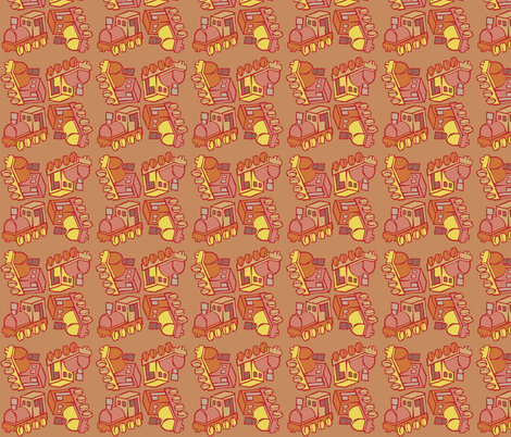 Toy Train fabric by woodledoo on Spoonflower - custom fabric
