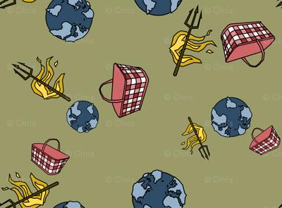 World. Hell. Handbasket. (now in green)