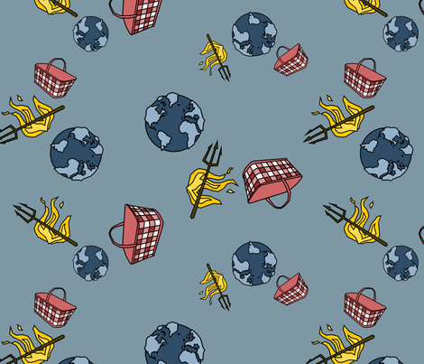World. Hell. Handbasket. fabric by chris on Spoonflower - custom fabric