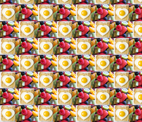 Yummy Happy Morning fabric by karaquen on Spoonflower - custom fabric