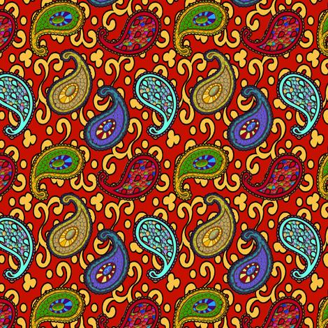 ©2011 paisley sean 3a fabric by glimmericks on Spoonflower - custom fabric