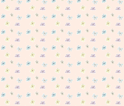 SM Whimsical Petals Pink fabric by myndfulmotif on Spoonflower - custom fabric