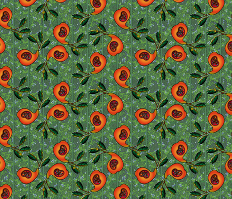 ©2011 Paisley fruit large fabric by glimmericks on Spoonflower - custom fabric