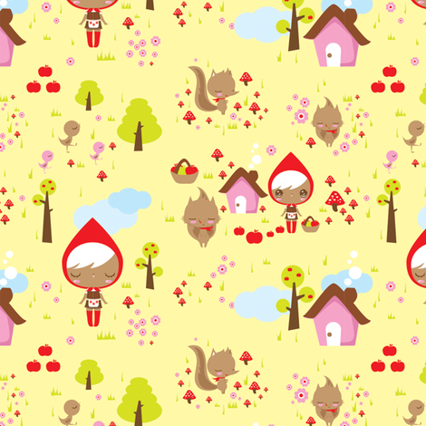 Little Red fabric by teamkitten on Spoonflower - custom fabric