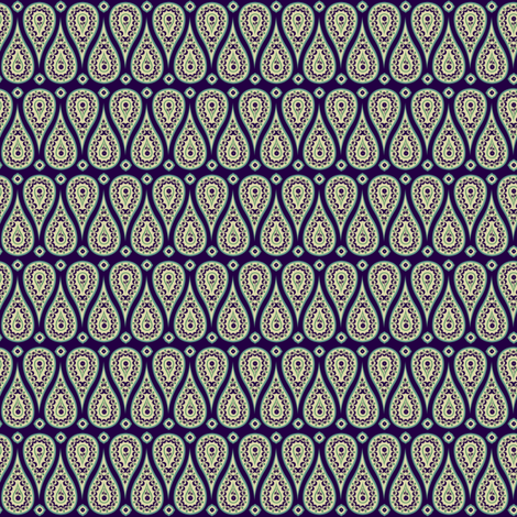 crazy daisy paisley fabric by northernlala on Spoonflower - custom fabric