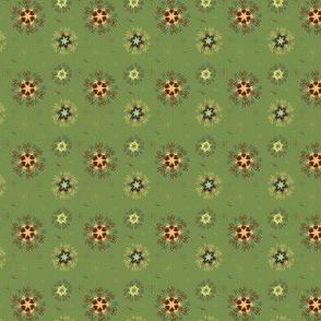 50's snowflake wallpaper