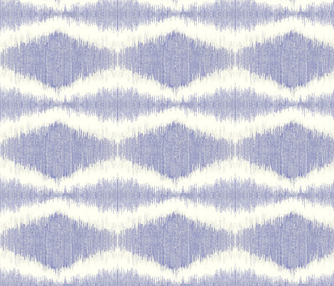 "IKAT DIAMOND in ""DENIM"" fabric by trcreative on Spoonflower - custom fabric"