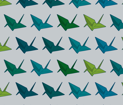 Cranes for Brian fabric by candyjoyce on Spoonflower - custom fabric