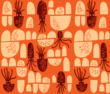 squid fabric by endemic on Spoonflower - custom fabric