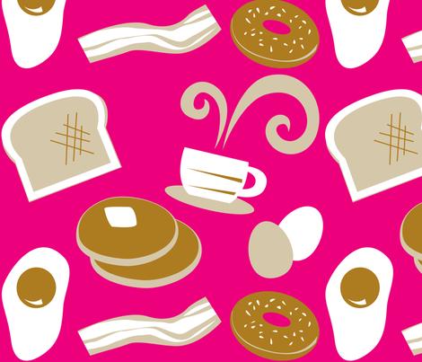 Breakfast on Tuesday fabric by malien00 on Spoonflower - custom fabric