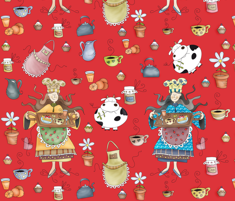 A Good Morning! fabric by catru on Spoonflower - custom fabric