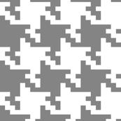 Bold Grey Jumbo Houndstooth