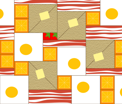 Breakfast in Bed. A Quilt. fabric by chris on Spoonflower - custom fabric