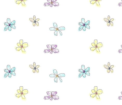 LG Whimsical Petals White fabric by myndfulmotif on Spoonflower - custom fabric
