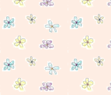 LG Whimsical Petals Pink fabric by myndfulmotif on Spoonflower - custom fabric