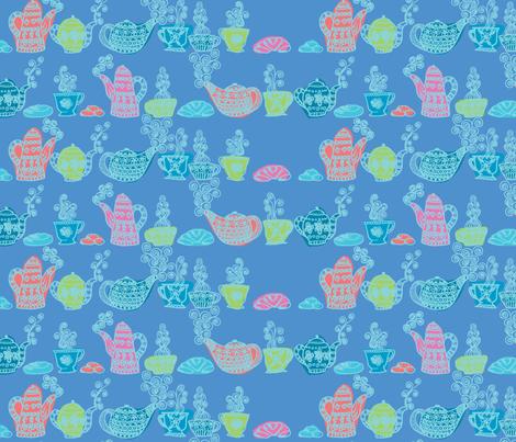 petit_déjeuné_gourmand_bleu fabric by nadja_petremand on Spoonflower - custom fabric