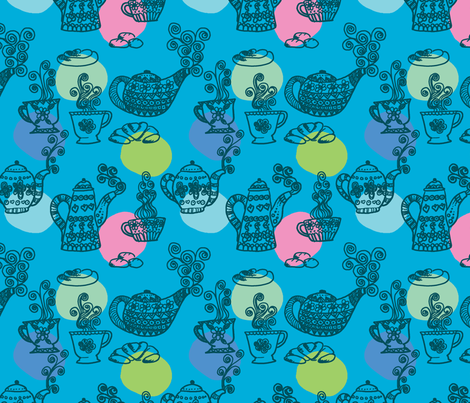 a_table__turquoise_L fabric by nadja_petremand on Spoonflower - custom fabric