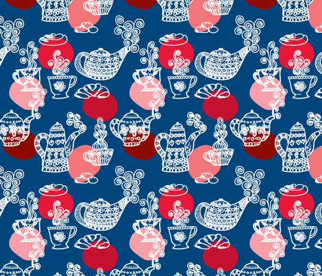 a_table_marine_L fabric by nadja_petremand on Spoonflower - custom fabric