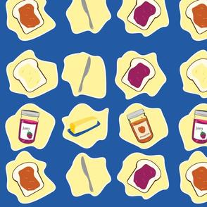 Butter & Jam on Bread
