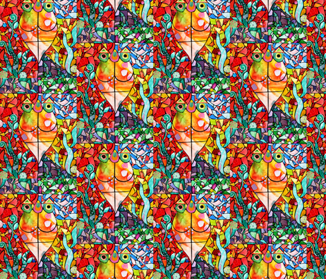 A Fish For Olivia fabric by colorcrazed on Spoonflower - custom fabric