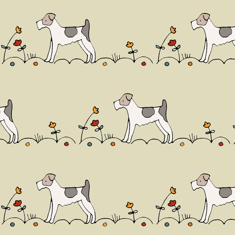 terrier fabric by housewrenstudio on Spoonflower - custom fabric