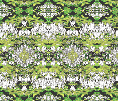 Hosta Black and White 2000 fabric by wren_leyland on Spoonflower - custom fabric