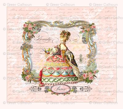 Marie Antoinette French Script Writing