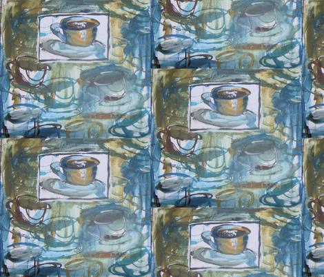 coffee_silkscreen fabric by liz_debellis on Spoonflower - custom fabric