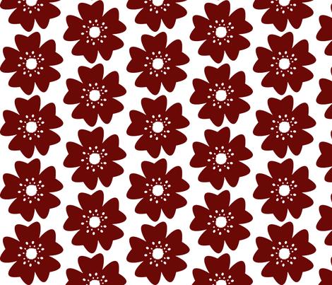Single Cherry Blossom fabric by fussypants on Spoonflower - custom fabric