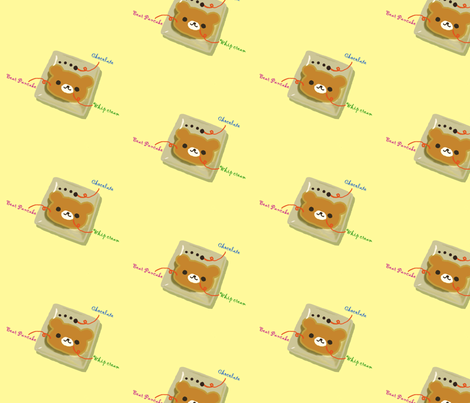 Bear pancake fabric by lovely_girl on Spoonflower - custom fabric