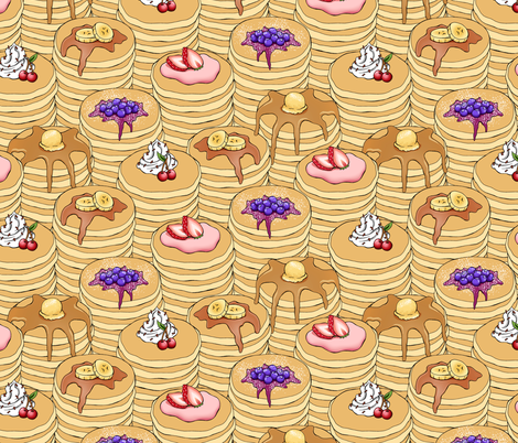 Flapjack Stack fabric by pattysloniger on Spoonflower - custom fabric