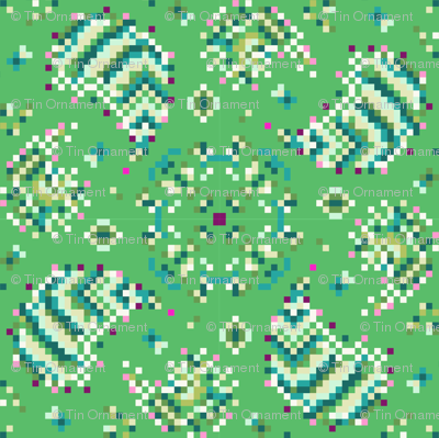 Pixelated Paisley