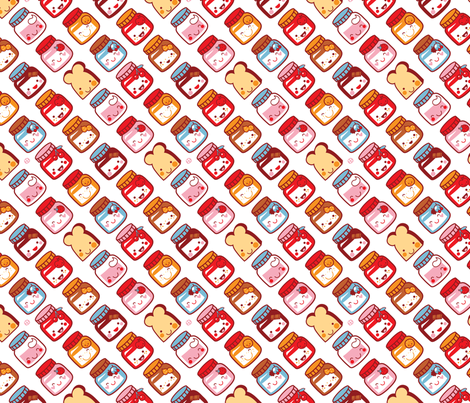 Bread for breakfast! fabric by bora on Spoonflower - custom fabric