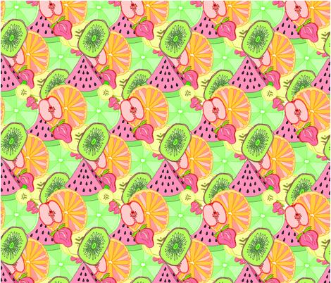 Breakfast Fruit Salad fabric by rachel_alice on Spoonflower - custom fabric
