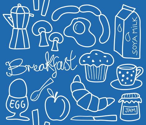 breakfast_blue fabric by peppermintpatty on Spoonflower - custom fabric
