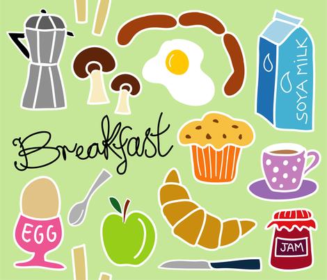 breakfast_pastel fabric by peppermintpatty on Spoonflower - custom fabric