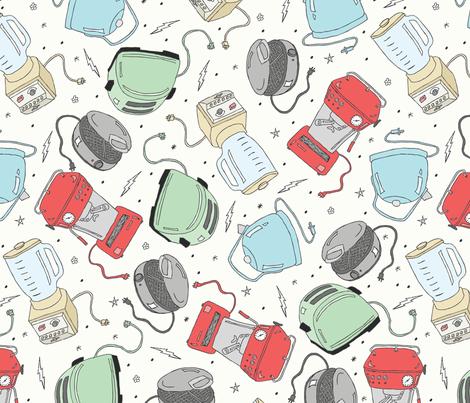Breakfast Appliances fabric by babysisterrae on Spoonflower - custom fabric